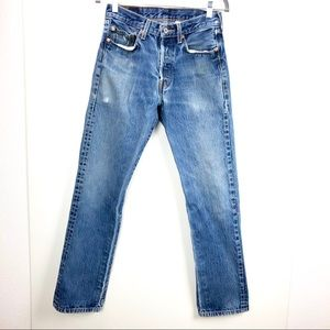 Levi's 501 high rise straight leg button fly